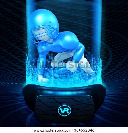 Virtual Reality VR Football - stock photo
