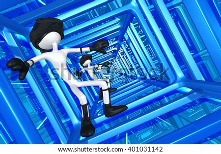 Virtual Reality VR Goggles Glasses Headset Device 3D Illustration  - stock photo