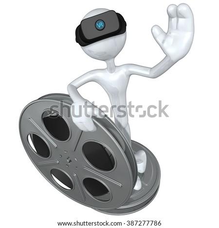 Virtual Reality VR Movies - stock photo
