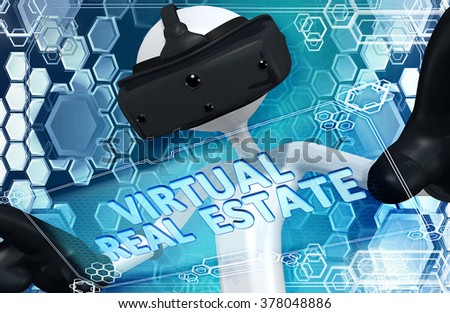 Virtual Reality VR Realty - stock photo