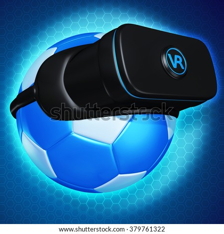 Virtual Reality VR Soccer Goggles Glasses Headset Device - stock photo
