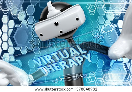 Virtual Reality VR Therapy - stock photo