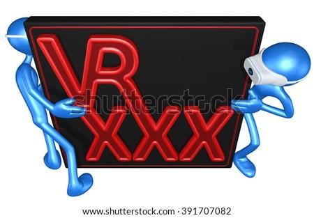 Virtual Reality VR XXX Pornography - stock photo