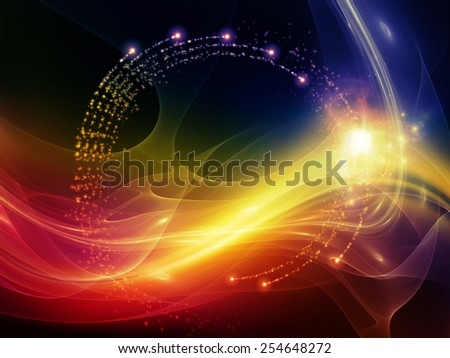 Virtual Wave series. Abstract design made of fractal waves and lights on the subject of virtual reality science and technology - stock photo