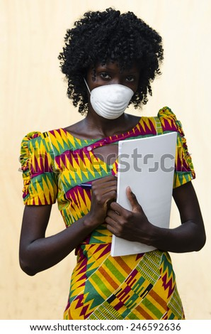 Virus Outbreak: Black African Doctor Assisting Ebola Patients - stock photo