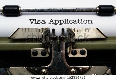 Visa application - stock photo