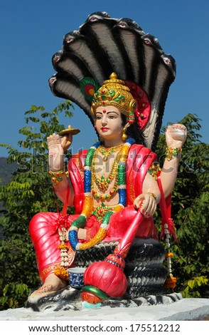 Vishnu, Hindu God  - stock photo