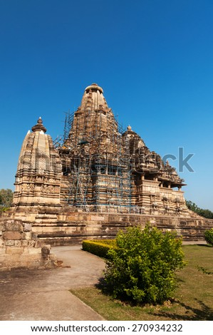 Vishvanath temple. Western temples of Khajuraho. Madhya Pradesh. India. Built around 999
