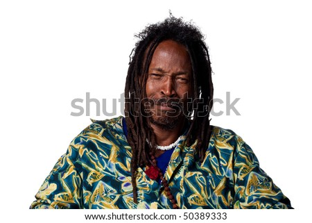 Visibly confused african american man, isolated image - stock photo