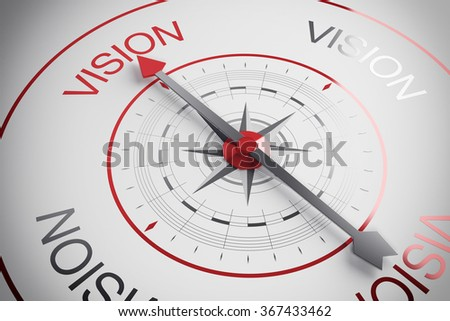 Vision compass - stock photo