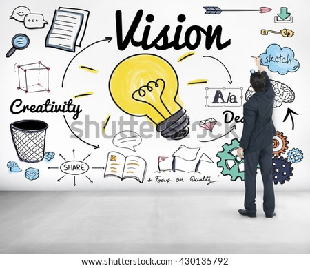 Vision Creative Ideas Design Concept - stock photo