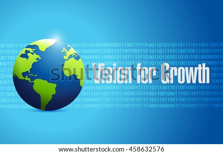 vision for growth binary global sign business concept illustration design graphic - stock photo