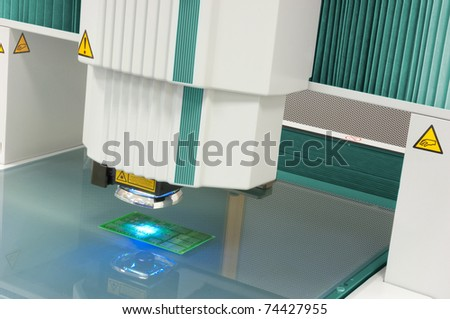 Vision measuring instrument - stock photo