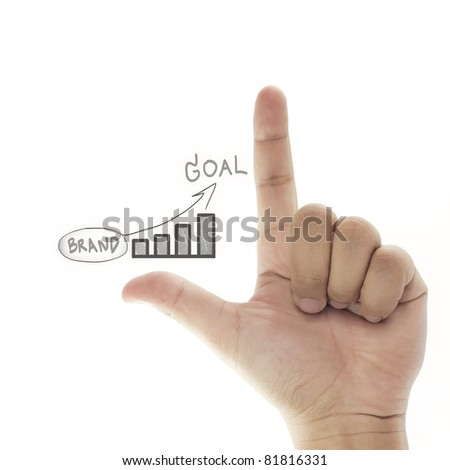 vision of building brand to goal (business success) - stock photo