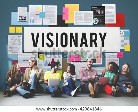 Visionary Aspirations Creativity Imagination Concept - stock photo