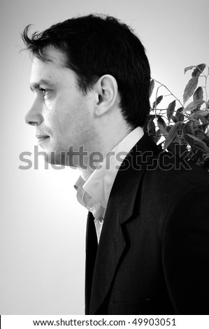 visionary manager - stock photo