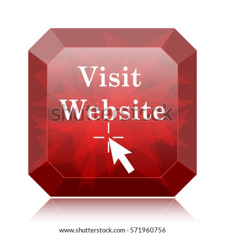 Pay Online Icon Red Website Button Stock Illustration ...