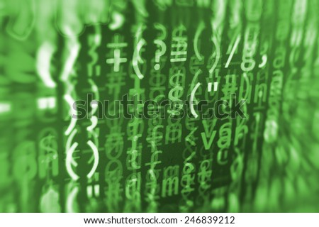 Visual modern display of data source code. Programming code abstract screen of software developer. Computer script. Green color.  - stock photo