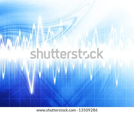 visual representation of a sound wave - stock photo