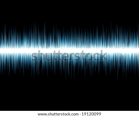 Visual representation of an audio wave on a black background