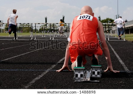 Visualize the Race - stock photo