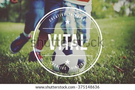 Vital Vitality Live Critical Active Essential Important Concept - stock photo