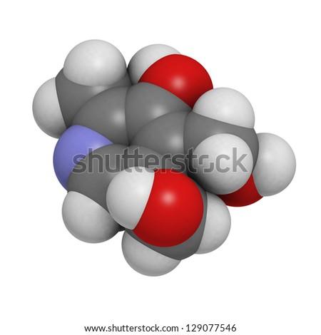 Chemical formula of pyridoxine