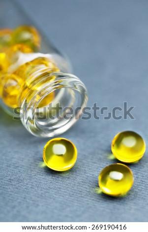 vitamin e capsules  - stock photo