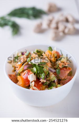 Vitamin salad with tomatoes