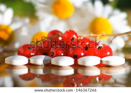 vitamin tablets - stock photo