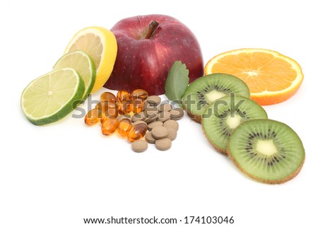 vitamins capsules - stock photo