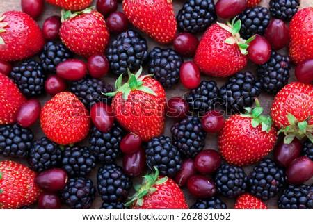 Vitamins. Summer berries - stock photo