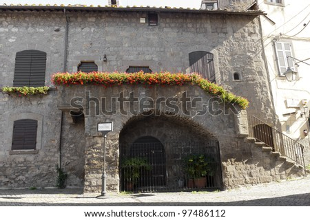 Viterbo (Lazio, Italy), the medieval quarter of San Pellegrino