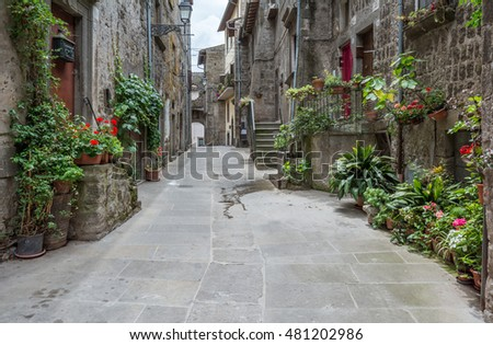 Vitorchiano, old rural village in Viterbo Province, Lazio (Italy), June-11-2016