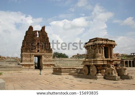 Vittala temple in Hampi - stock photo