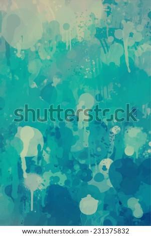 Vivid blue brush stroke paint. Abstract illustration. - stock photo