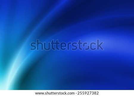 vivid blue gradient abstract background with glossy curve line - stock photo