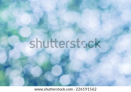 vivid Bokeh background of foliage. Nature composition. - stock photo