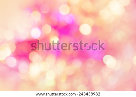 vivid bokeh in soft color style for background  - stock photo
