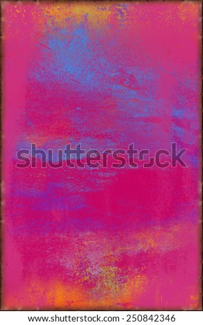 Vivid Pink Texture with Rusty Seams Along Edges (Part of Vibrant Metal Textures set, which includes 12 textures that fit together perfectly to form a huge image. No noise, even lighting.) - stock photo