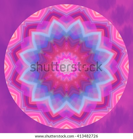 Vivid purple pink blue kaleidoscope