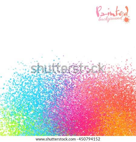 Vivid rainbow colors sprayed paint abstract background - stock photo