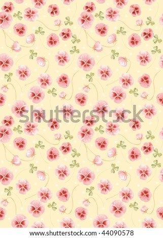 Vivid repeating floral background