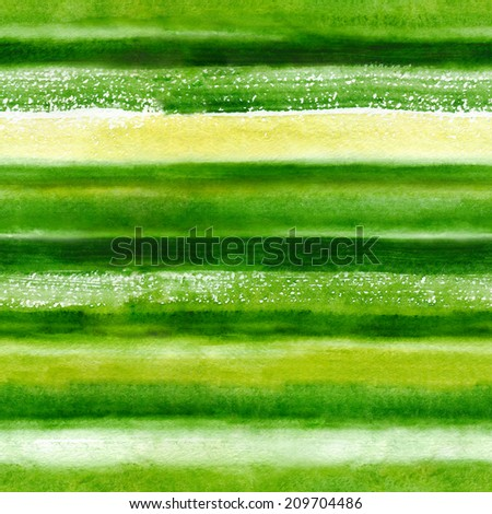 Vivid watercolor background with green grass colors - stock photo