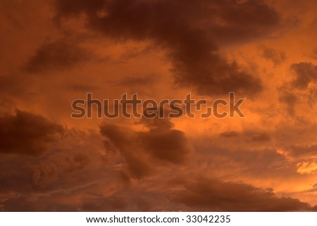 Vividly colored clouds - stock photo
