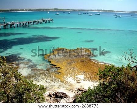 Vivonne Bay, Kangaroo Island, South Australia. Voted best beach. - stock photo