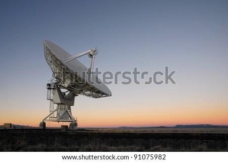 VLA radio telescope in New Mexico USA - stock photo