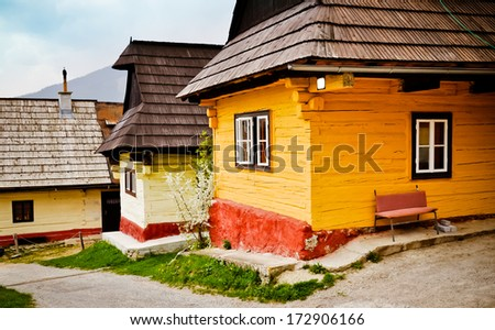 Vlkolinec - UNESCO culture heritage place. Slovakia, Europe - stock photo
