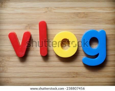 Vlog concept - stock photo