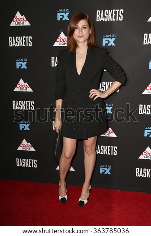 vLOS ANGELES - JAN 14:  Aya Cash at the Baskets Red Carpet Event at the Pacific Design Center on January 14, 2016 in West Hollywood, CA - stock photo